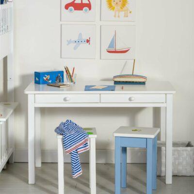 Schreibtisch hoch Weiss