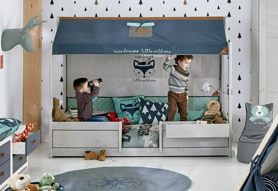 lifetime 4 in 1 bett mit dach das mitwachsende kinderbett 2 16 jahre. Black Bedroom Furniture Sets. Home Design Ideas