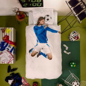 Bettwäsche Fussball blau