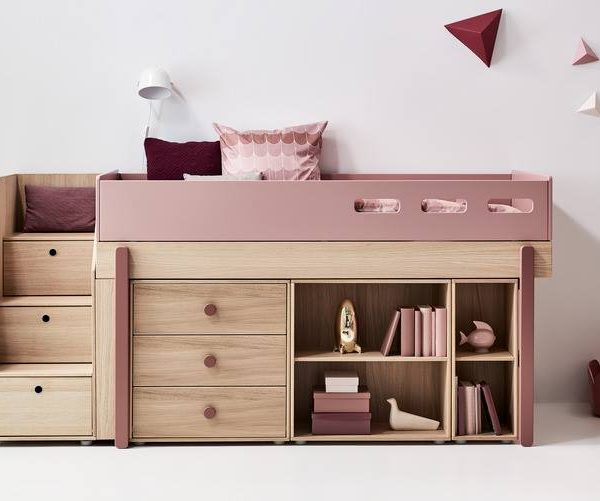 flexa popsicle halbhohes funktionsbett mit treppe viel mehr als ein bett. Black Bedroom Furniture Sets. Home Design Ideas