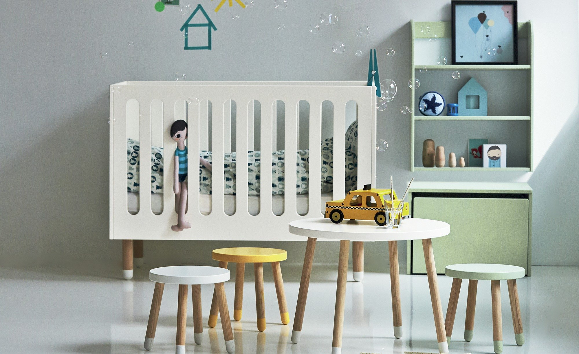 flexa babybett play panda kinderm bel. Black Bedroom Furniture Sets. Home Design Ideas