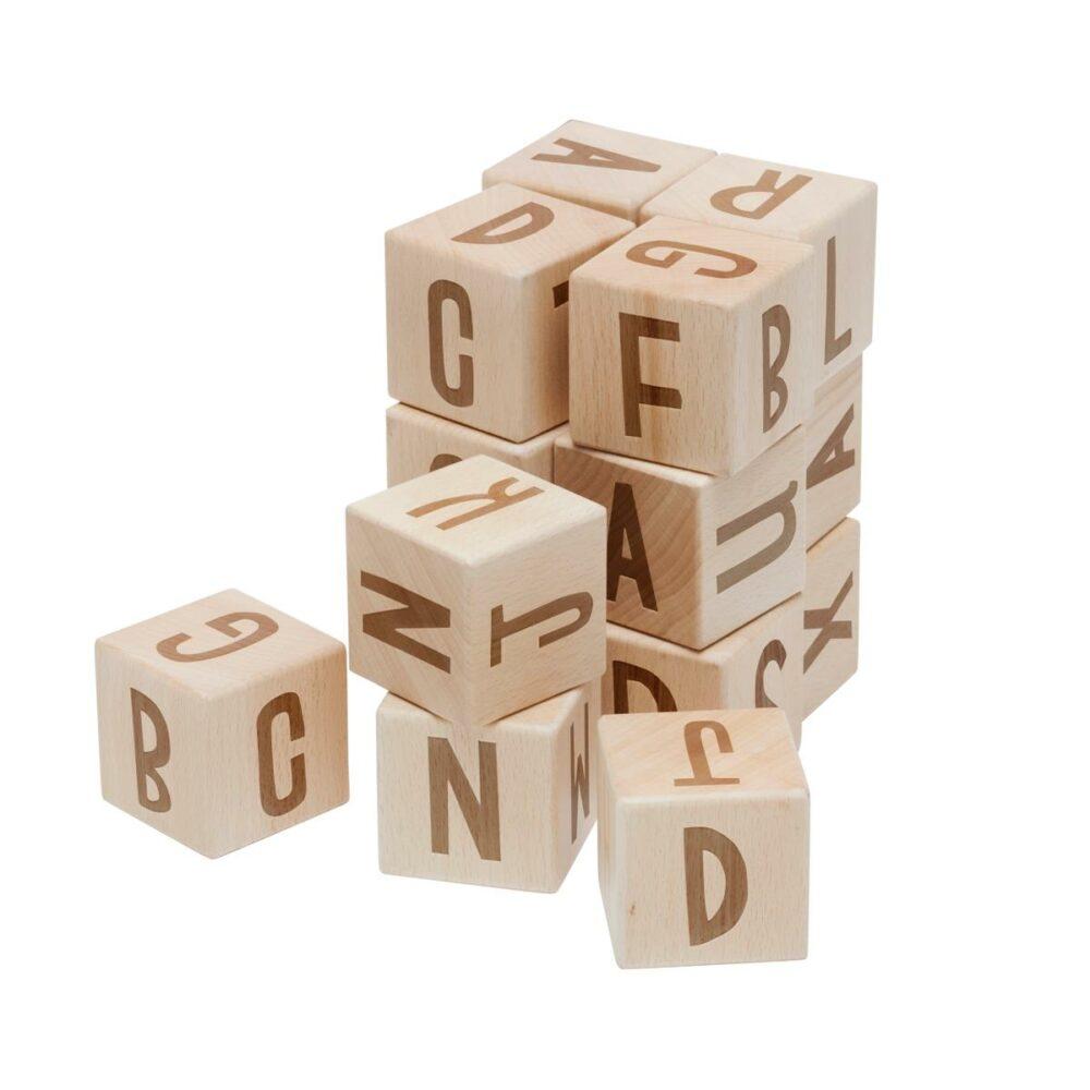 Buchstabenblöcke aus Holz