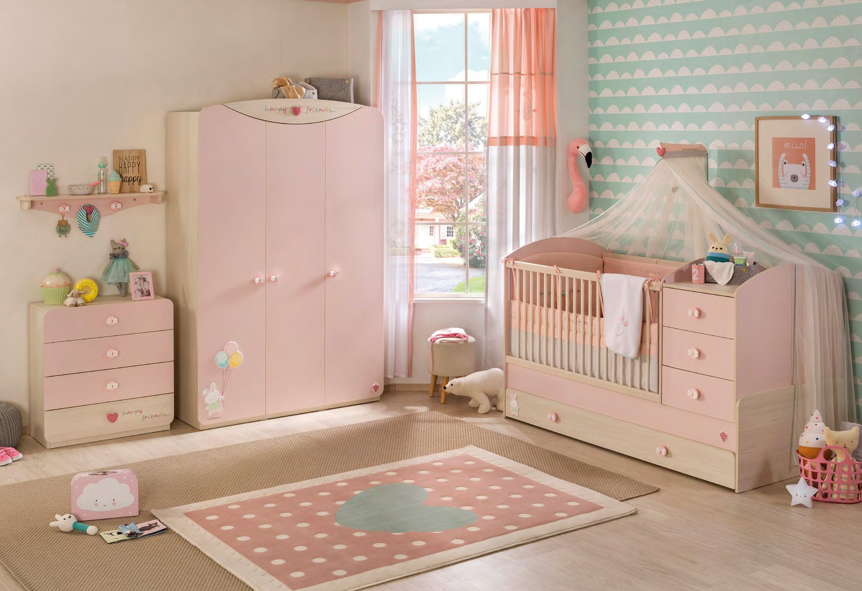 cilek baby girl gardine super s ss perfekt f r jedes m dchenzimmer. Black Bedroom Furniture Sets. Home Design Ideas