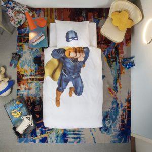 Snurk Bettwäsche Superhero Blau
