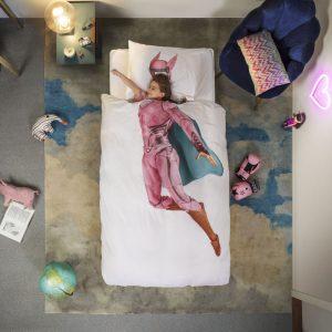 Snurk Bettwäsche Superhero Pink