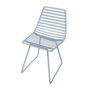 Me-Sit Metallstuhl blau klein