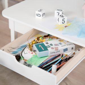 Sebra Schreibtisch in Weiss