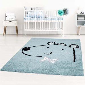 KinderteppichBär Blau