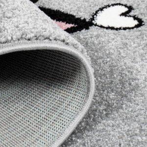 Kinderteppich Katze in Grau