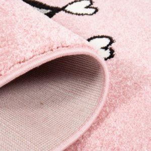 Kinderteppich Katze in Rosa