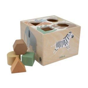 Formensteckspiel aus Holz Wildlife