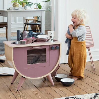 Spielküche in altrosa