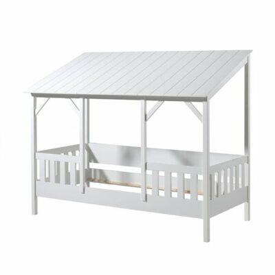 Vipack Hausbett mit Dach 90x200cm Weiss
