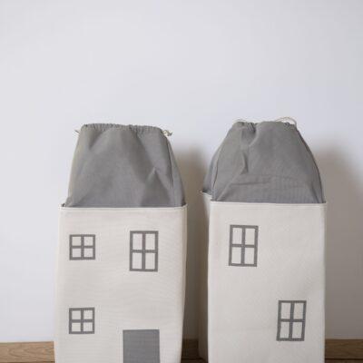 Spielzeug Tasche Haus Grau