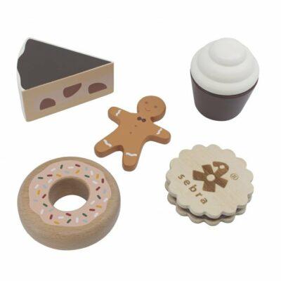 Sebra Food, Kuchen und Kekse aus Holz