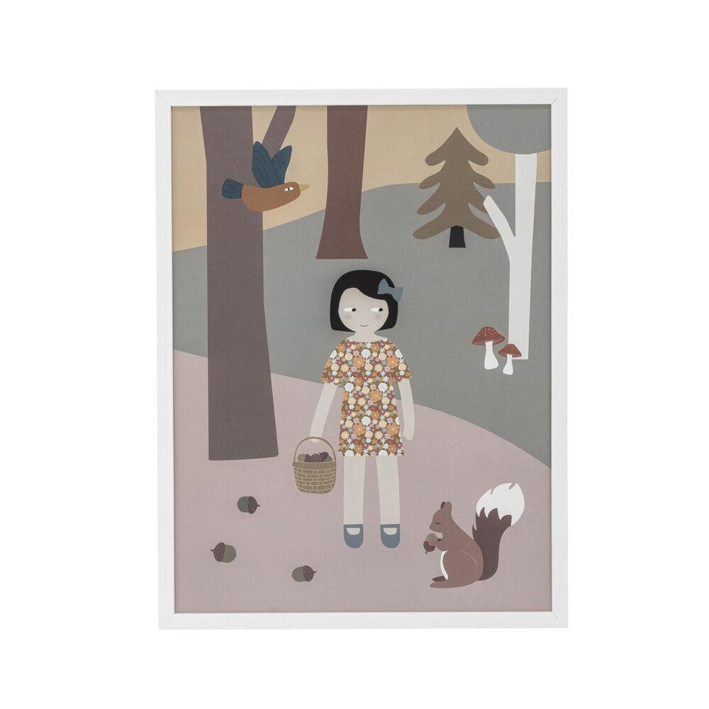 Poster Mädchen im Wald