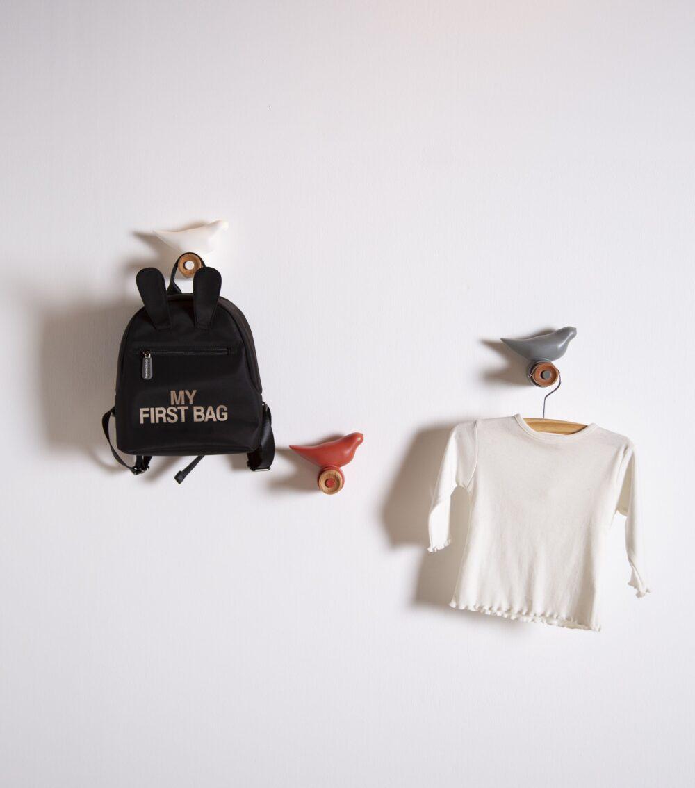 Haken Vogel Grau
