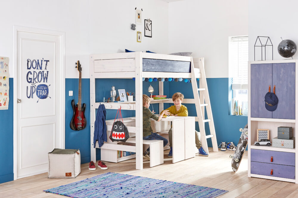 Hochbett Play And Store Whitewash