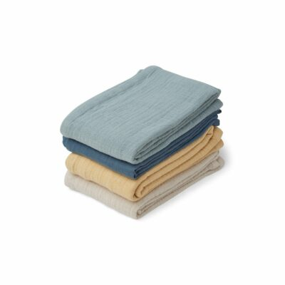 Tücher Blau Mix 4 Stk.