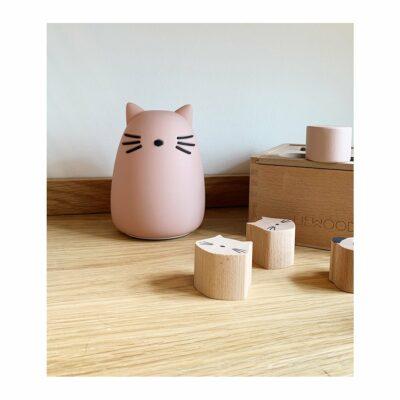 Dekolampe Katze Rosa